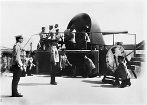 Fort Nepean - The 6 inch Mk VII gun photographed 5 August 1914