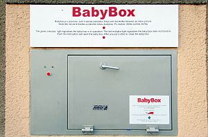 "Baby hatch - Baby hatch called ""BabyBox"" in the Czech Republic"