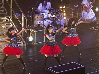 "Metal Resistance - ""Road of Resistance"" was performed for the first time during the Babymetal World Tour 2014."