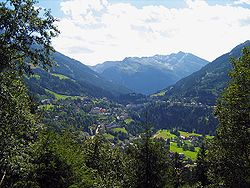 Gastein valley in the Hohe Tauern range