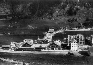 Zermatt railway station - Image: Bahnhof Zermatt 1900