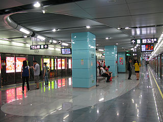 Baishizhou station metro station in Shenzhen, China