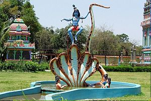 Betul district - Enchanting Lord Krishna's statue at Mandir