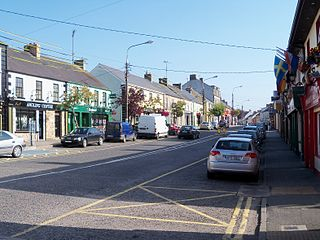 Ballyconnell Town in Ulster, Republic of Ireland