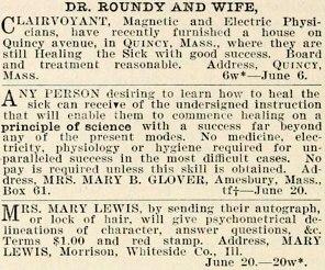 Banner of Light ad (Mary Baker Eddy), July 4, 1868