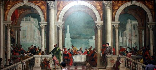 Banquet In The House Of Levi By Paolo Veronese Accademia Venice Leonardo Talks With Alternative