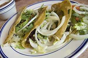 "Barbacoa Tacos — ""Three corn tortillas f..."