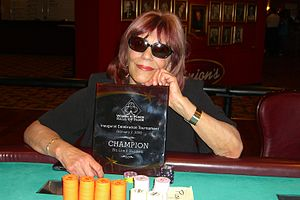 Barbara Enright - Enright on the night of her induction into the Women in Poker Hall of Fame