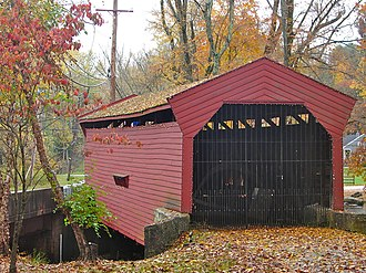 Bartram's Covered Bridge - Slanted planks on the western entrance