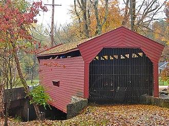 Bartram's Covered Bridge - Image: Bartrams Bridge w portal