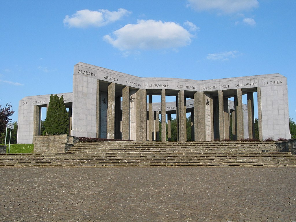 Bastogne (Belgium), the Mardasson memorial.