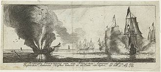 Fourth Anglo-Dutch War - Glorious action of the French Admiral Suffren against the British Admiral Hughes in the seas of Ceylon. The intervention of the French navy attempted to rescue the Dutch colonies in Asia.