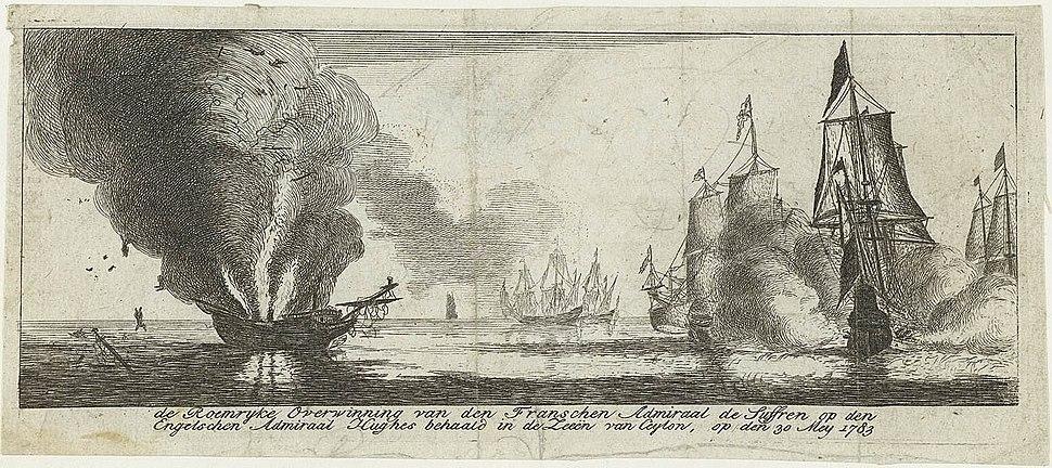 Battaille Gondelour 1783 gravure hollandaise imaginaire 1783