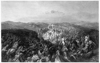 Battle of Ascalon - Battle of Ascalon (engraving by C. W. Sharpe, based on a painting of the same title by Gustave Doré)