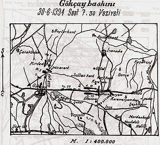 Battle of Goychay - Image: Battle of Goychay plan
