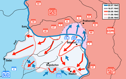 Operation Rumyantsev Battle of Kursk, southern sectorV2.png