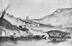 Battle of Sinop - Drawing of Sinop by George Tryon onboard HMS ''Vengeance'' which visited the scene of the battle in January 1854.