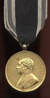 Bayerische Tapferkeitsmedaille, letztes Modell, Vorderseite (Quelle: Wikimedia)