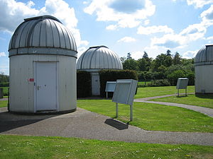 Bayfordbury - The domes housing some of the optical telescopes at Bayfordbury Observatory