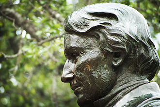 Baylor University - This statue of Judge Baylor is at the front of Founder's Mall in the heart of campus