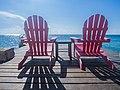 Beach chairs Cozumel Mexico (20769963314).jpg