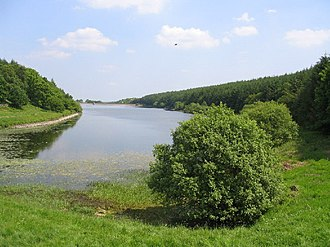 Beaver Dyke Reservoirs - Lower Beaver Dyke reservoir (2005, before decommissioning)