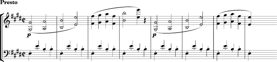 Beethoven Op 131 Trio from Scherzo, bars 69-76