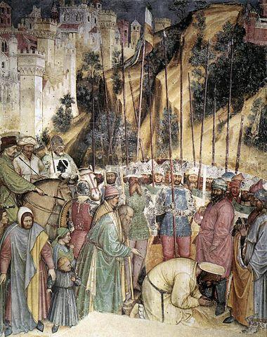 Усекновение главы святого Георгия (фреска Альтикьеро да Дзевио в капелле Сан-Джорджо, Падуя)
