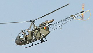 Aérospatiale Alouette II 1950s light utility helicopter series by Sud Aviation and Aerospatiale