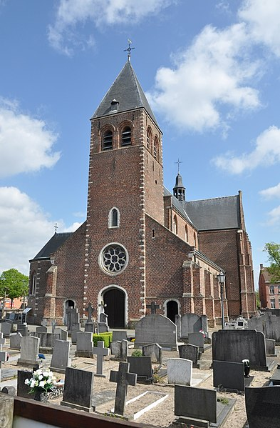 Parish church of the Holy Elizabeth of Hungary, in Zoersel (Antwerp province, Belgium).