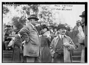 August Belmont Jr. - Belmont and Paul Cravath and August Belmont III in 1913
