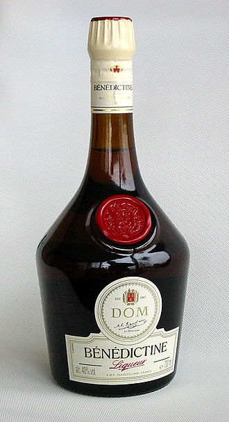 Liqueur - Bénédictine is a traditional French herbal liqueur