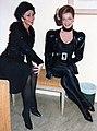 Berit Carlberg (Liliane La Fleur) & Berit Bogg (Lina Darling) i NINE, bakom scen.jpg