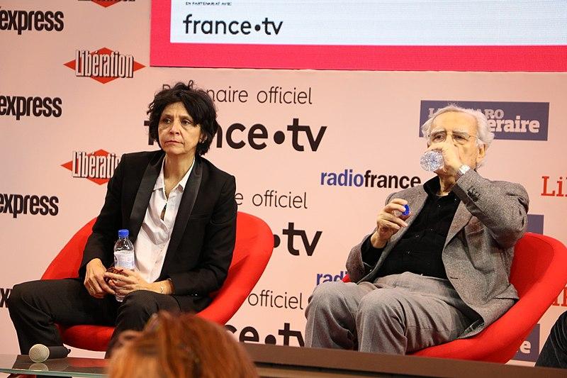 Bernard Pivot - Cécile Pivot au Salon du livre de Paris 2018 | Photo : Wikimedia