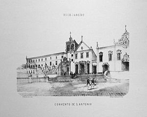 Pedro Afonso, Prince Imperial of Brazil - Convent of Saint Anthony, where prince Pedro Afonso is buried, 1856