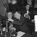 Bespreking Paul H Spaak met Minister Luns Den Haag, Bestanddeelnr 908-2944.jpg
