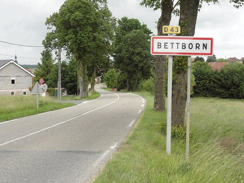 Bettborn (Moselle) entrée