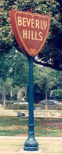 Sign marking the Beverly Hills city limits