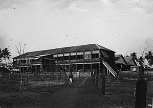 Madras and Southern Mahratta Railway - Beypore Railway Station at Chaliyam, Malabar District, which, for a short period, was the western terminus of Madras Railway