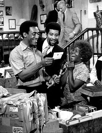 Rupert Crosse - Crosse (center) with Bill Cosby and Beah Richards on The Bill Cosby Show, 1970