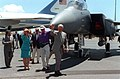 Bill and Hillary Clinton and Air Force One Sep1-1995.jpg