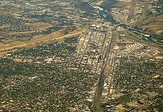 Interstate 94 - Billings, the western terminus of I-94