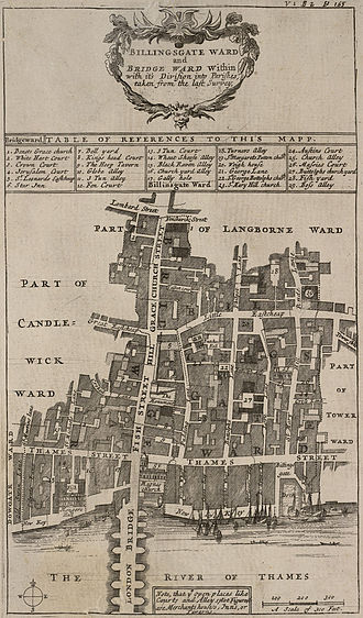 Billingsgate - Billingsgate and Bridge Wards in 1720.