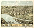 Bird's eye view of the city of Nebraska City, Otoe County, Nebraska 1868. LOC 73693494.jpg