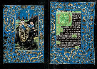 Black Hours, Morgan MS 493 - The Flight into Egypt, Folios 66v–67r