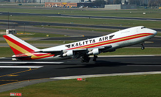 Kalitta Air - Kalitta Air, Boeing 747-200 departing from Brussels Airport