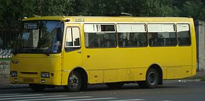 Marshrutka - Ukrainian medium class bus Bohdan A092 (Isuzu) - is used as most of Kiev marshrutkas. Ukraine