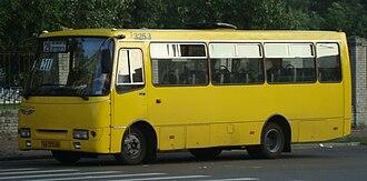 Marshrutka - Ukrainian medium class bus Bohdan A092 (Isuzu) is used as most of Kiev marshrutkas.