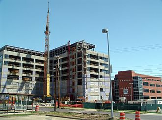 Boone Hospital Center - The patient care tower currently under construction