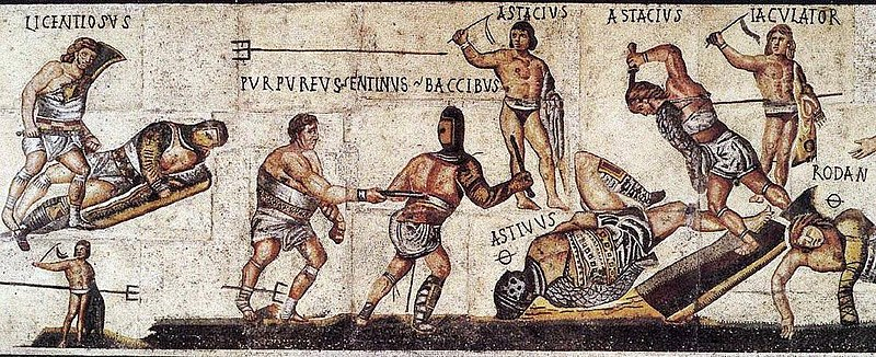 File:Borghese villa gladiator mosaic.jpg